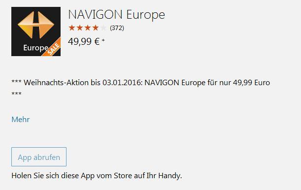 "NAVIGON Europe im ""Angebot"""