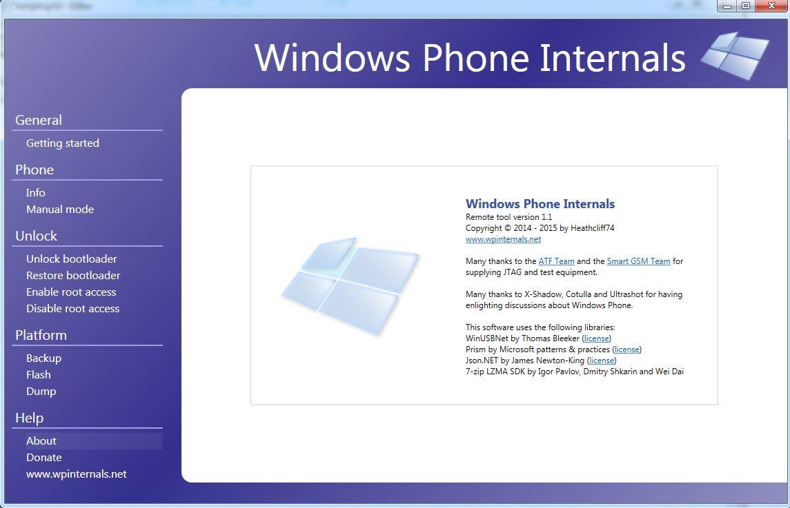 Windows Phone Internals unterstützt jetzt auch Build 10.0.10586.36