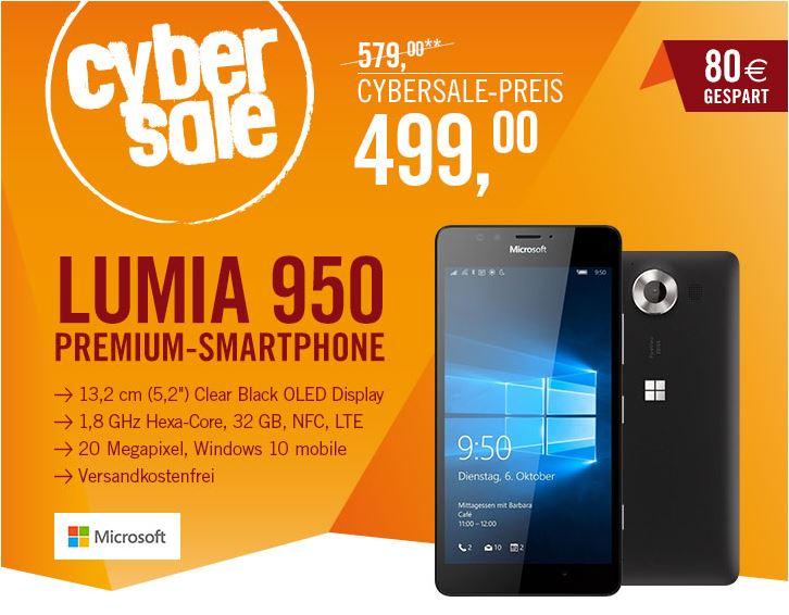 Lumia 950 im Angebot für 499€