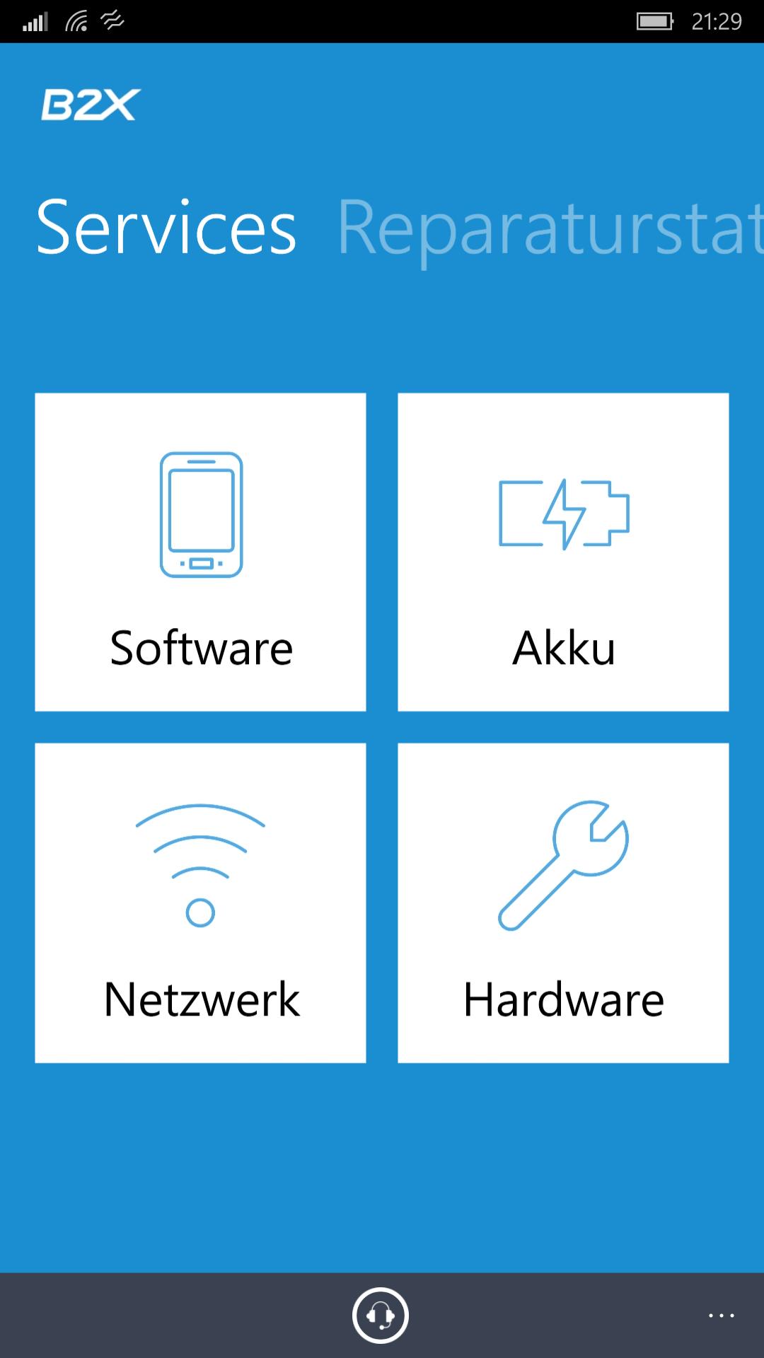 Microsoft Support B2X veröffentlicht seine Smartapp
