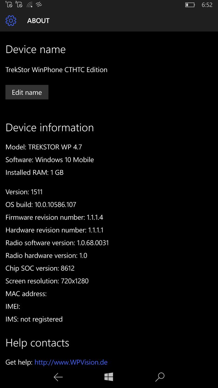 Mein TrekStor WinPhone 4.7 HD bekommt Windows 10 Mobile