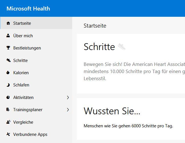 Microsoft Band / MicrosoftHealth.com – Synchronisation und Login funktionieren wieder