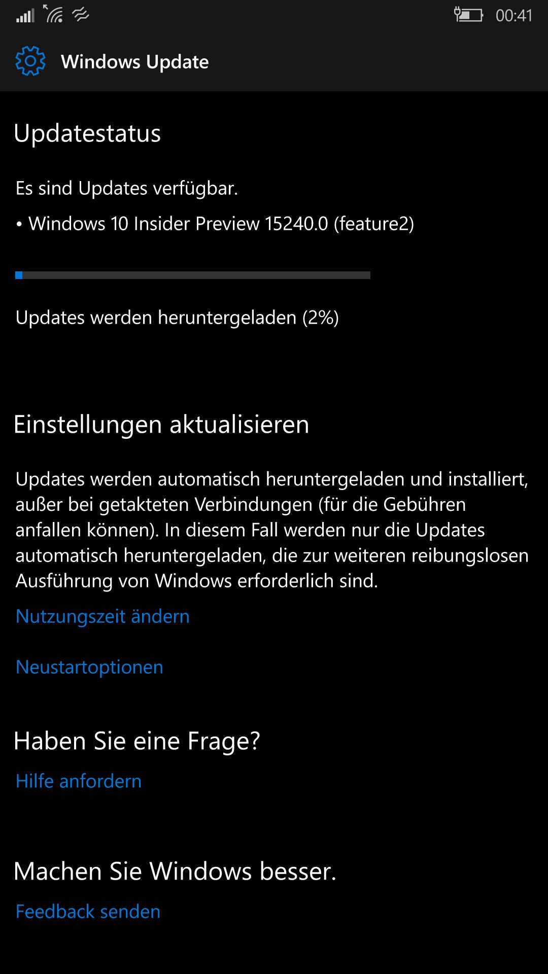 Insider Build 15240 (feature2) Mobile im fast Ring erschienen