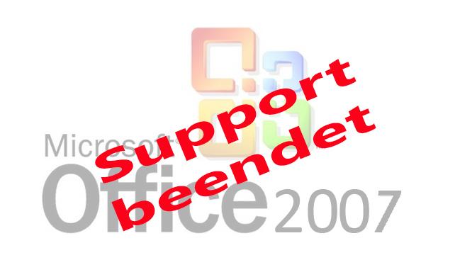 Office 2007-Support wurde beendet