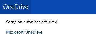 Microsoft OneDrive ist down