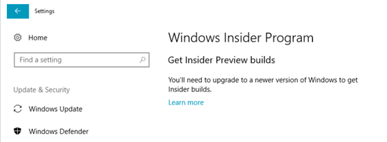 Alte Windows 10 Insider Builds werden nicht mehr aktualisiert