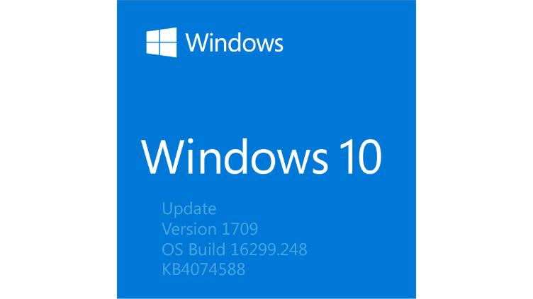 Microsoft veröffentlicht Build 16299.248 für Windows 10 (KB4074588) [Changelog Deutsch]